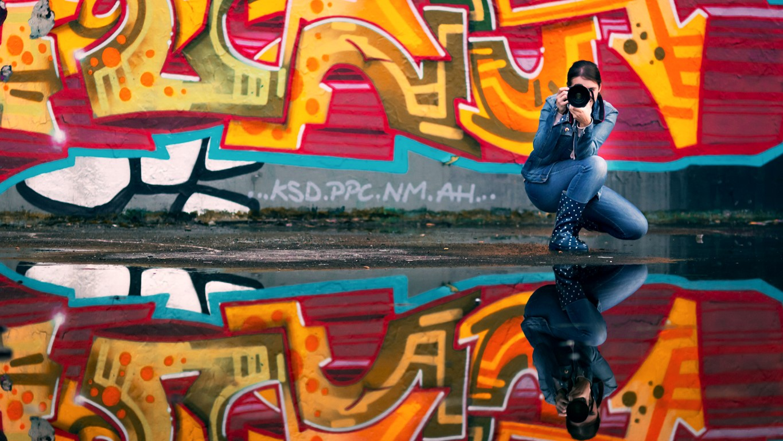 Tierfotografie Norddeutschland, Laura Greiner bei der Arbeit